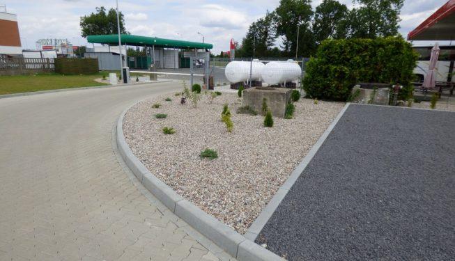 teren stacji paliw i parkingi