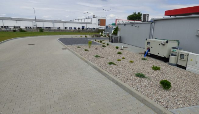 Zagospodarowanie terenu na stacji paliw